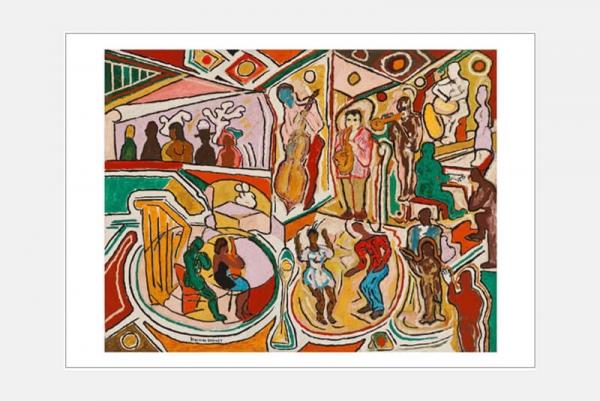 "Postkarte ""Jazz Club"" 10er-Set"