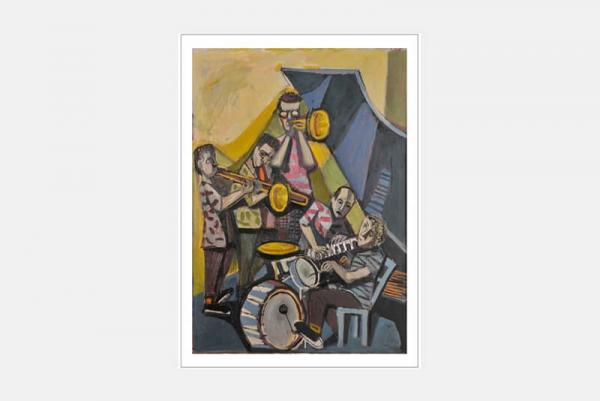 """Postkarte """"Jazzkapelle"""", 10er-Set"""