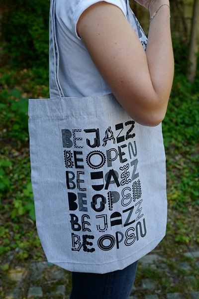 "Jutebeutel ""be jazz be open"""