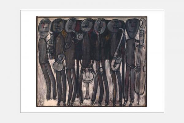 "Postkarte ""Jazz Band Black Chicago"", 10er-Set"