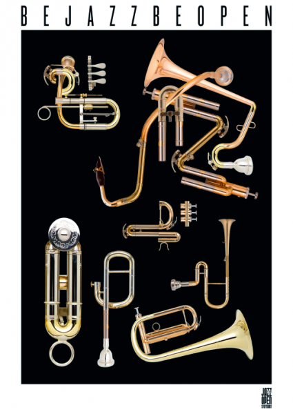 Poster be jazz be open - Brass