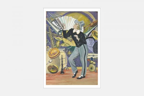 """Postkarte """"Jazztänzerin"""", 10er-Set"""